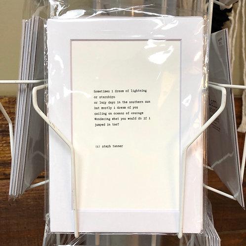 Poetry Print 5x7