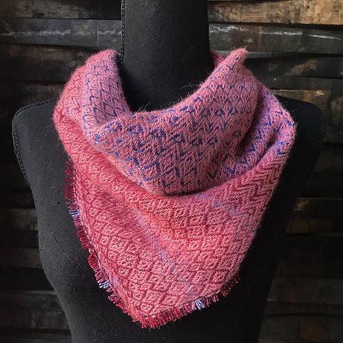 Pink Alpaca Silk Bandana Scarf