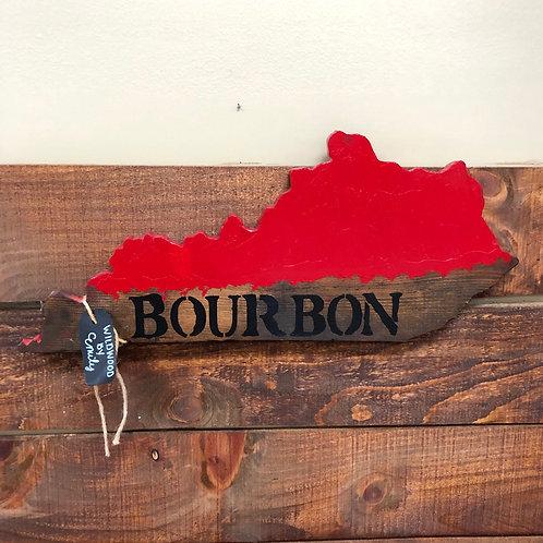 Bourbon Kentucky Cut Out