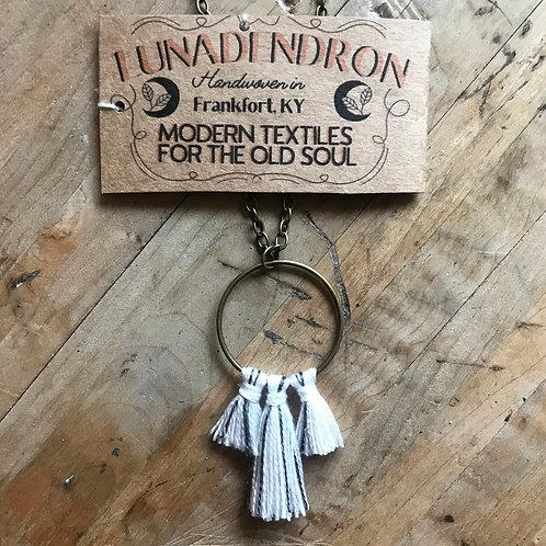 Tri Tassel Hoop Necklace