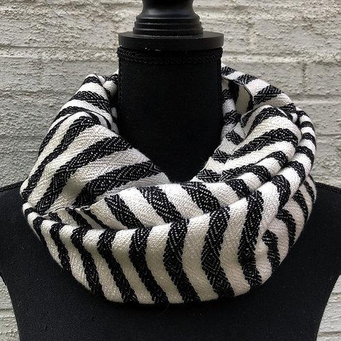 Black & White Striped Seafarer Scarf