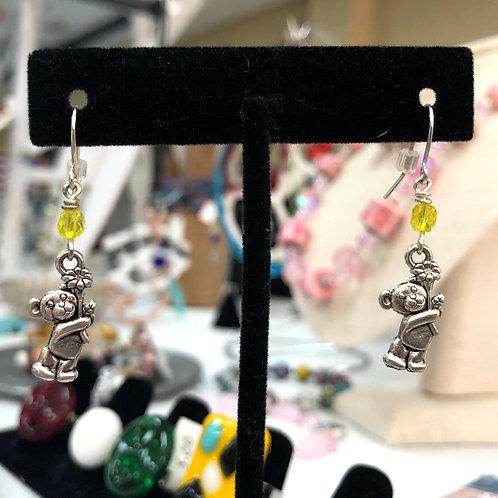 Flower Bear Earrings