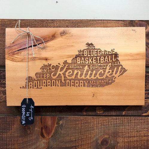 Wood Burn Kentucky Sign