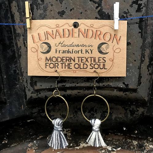 Tassel Hoop Loom Waste Earrings
