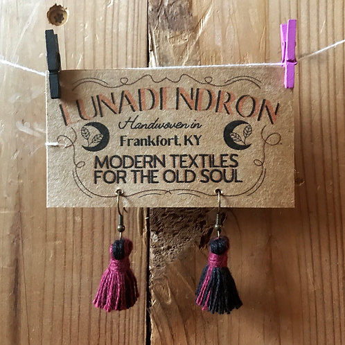 Autumn Tassel Loom Waste Earrings