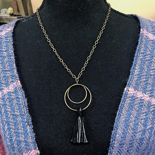 Moon Tassel Loom Waste Necklace
