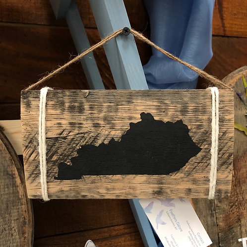 Kentucky Wall Stave Sign