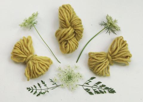 naturally dyed yarn