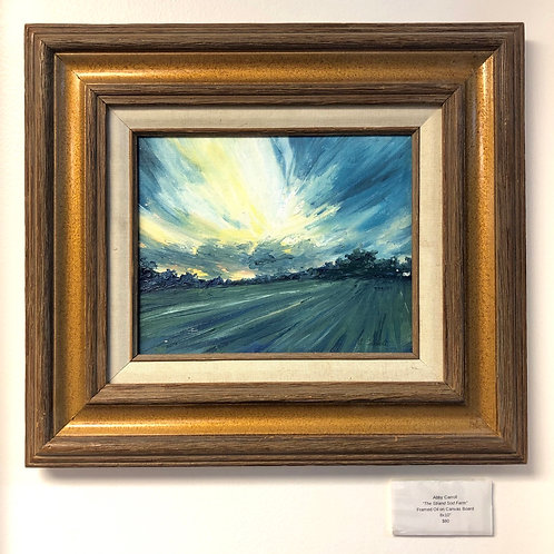 The Strand Sod Farm Oil Painting