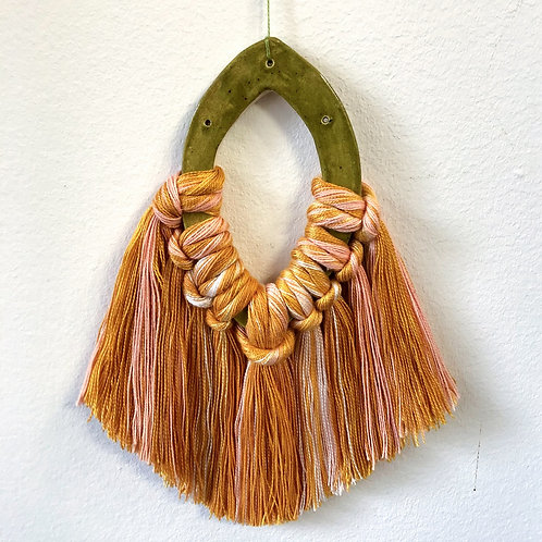 Ceramic Tassel Wall Hanging