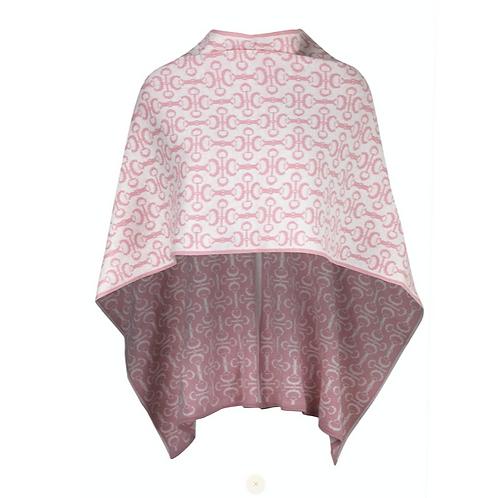 Poncho - Alpaca   pink
