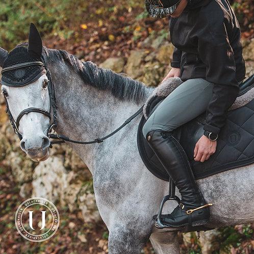 Ublack - Saddle Pad Jumping Black Lady