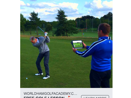 Case Study: Golf Coaching Facebook Advert