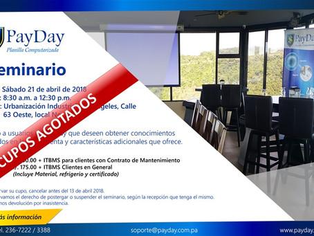 PayDay-Seminario 21 de abril 2018