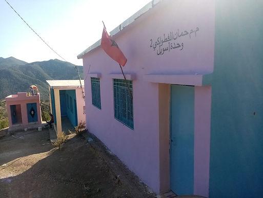 Construction d'un bloc sanitaire dans l'école d'Assouil de la Commune rurale Mokrisset au Maroc