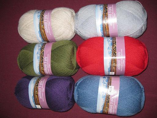 Ashford 3 ply wool