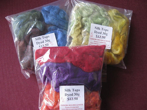 Dyed Silk Fibres