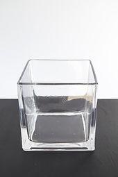Square glass votive