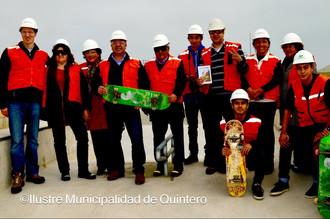 Alcalde y vecinos recorren obras de Borde Costero