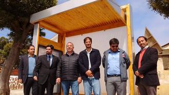 Comienza la instalación de nuevos y modernos paraderos en Quintero