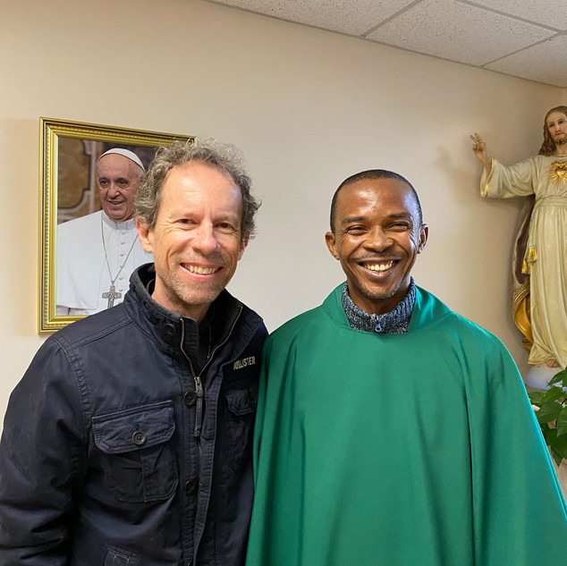 Father Asika Okafor and Larry Cappetto