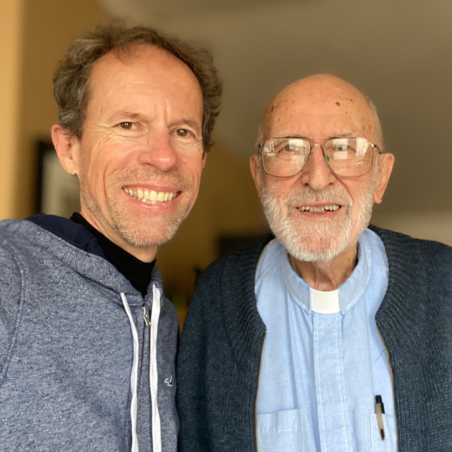 Larry Cappetto with Father James Plough, November 15, 2019.