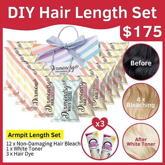Dixmondsg Hair Length Set - Long Armpit Length
