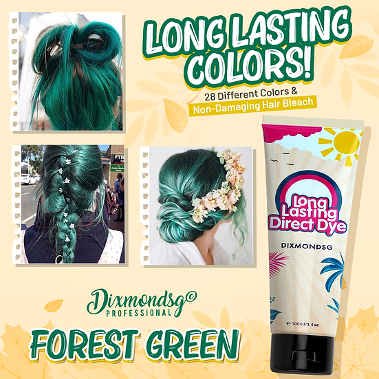 Dixmondsg Forest Green Hair Dye