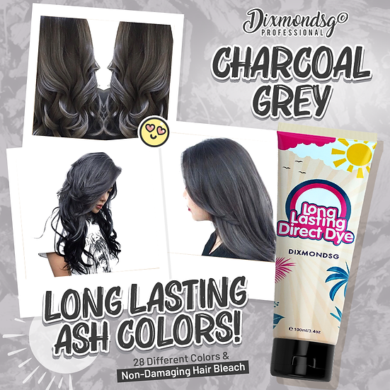 Dixmondsg Charcoal Grey Hair Dye