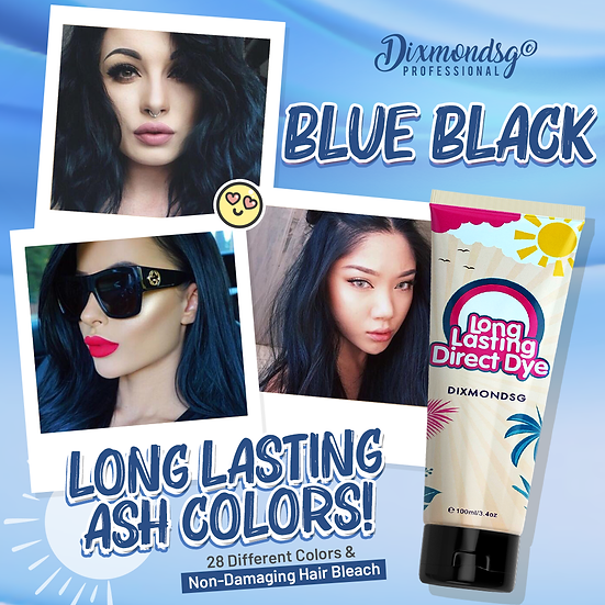 Dixmondsg Blue Black Hair Dye