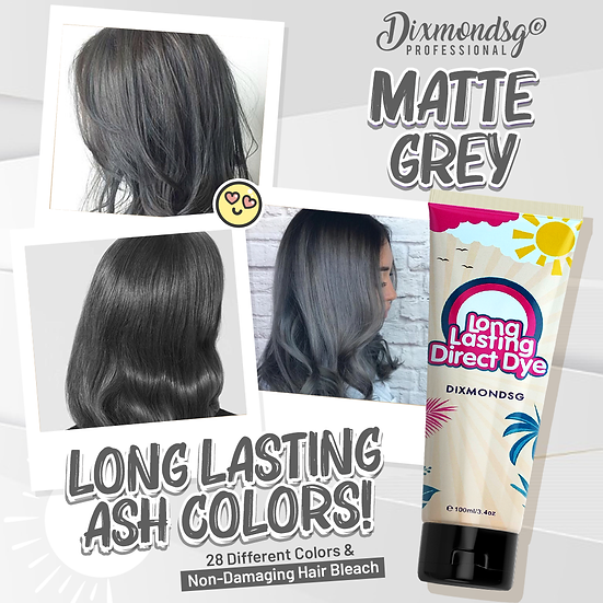 Dixmondsg Matte Grey Hair Dye