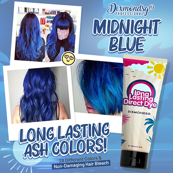 Dixmondsg Midnight Blue Hair Dye
