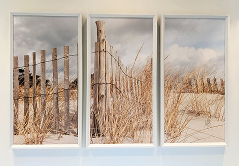 Fence Cloud Framed Triptych Sale Item