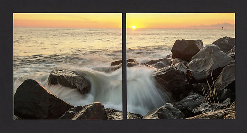 WD16 Sunrise Waterfall Diptych