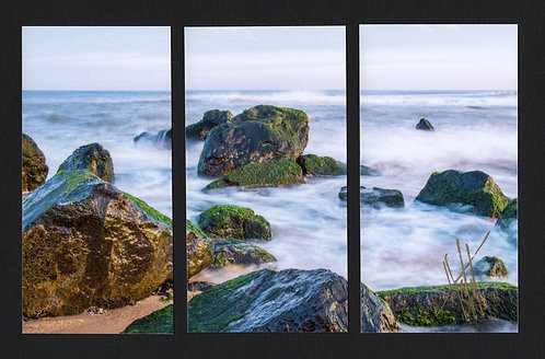 WT7 Evening Rocks Triptych