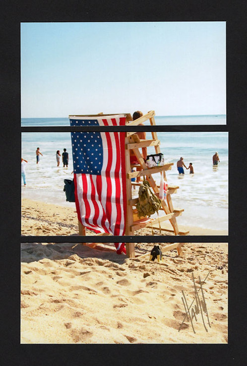 WT59 Vertical Flag and Stand Triptych