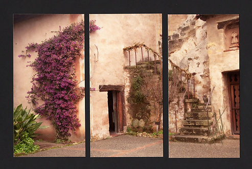 WT61 Carmel Mission Door Triptych
