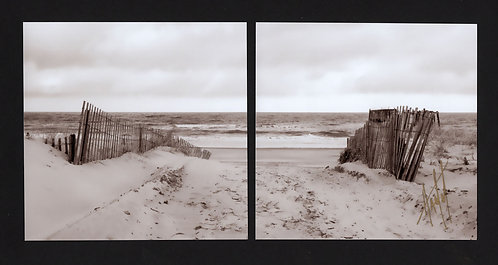 WD20 Beach Entrance Sepia Diptych