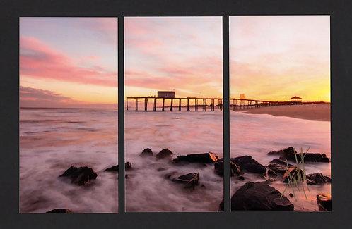 WT65 Belmar Pier Triptych