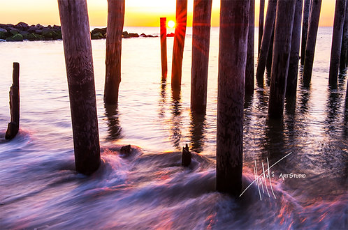 W66F Morning Pilings