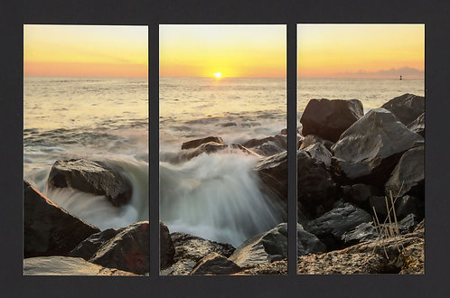 WT16 Sunrise Waterfall Triptych