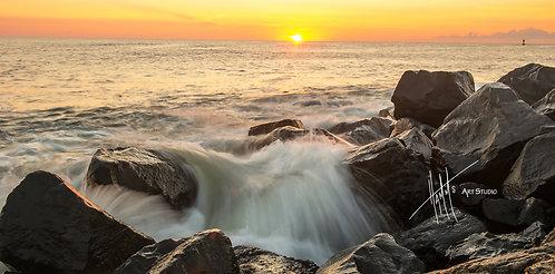 W16P Sunrise Waterfall