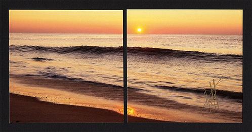 WD57 Orange Sunrise Diptych