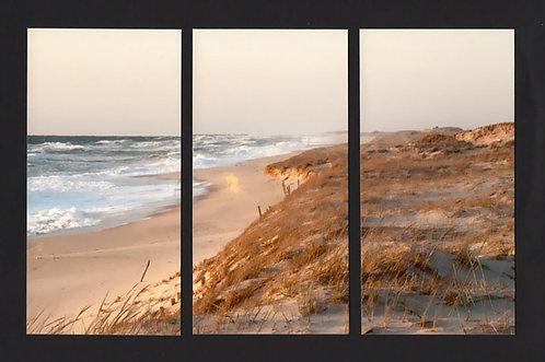 WT51 Morning on Island Beach Triptych