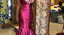 Burgundy Bling Prom Gown