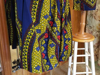 African skirt was designed with no pattern.