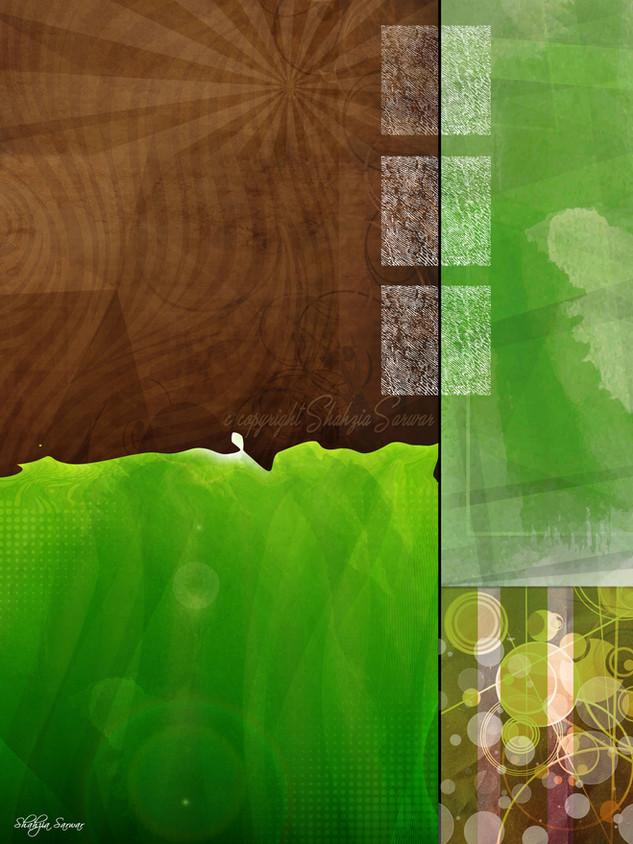 Green Brown Wall Art