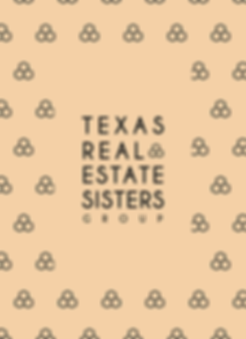 Texas Real Estate Sisters logo design and pattern design brand identity
