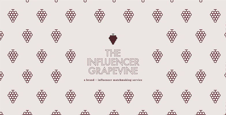 The Influencer Grapevine pattern and logo deisgn brand identity