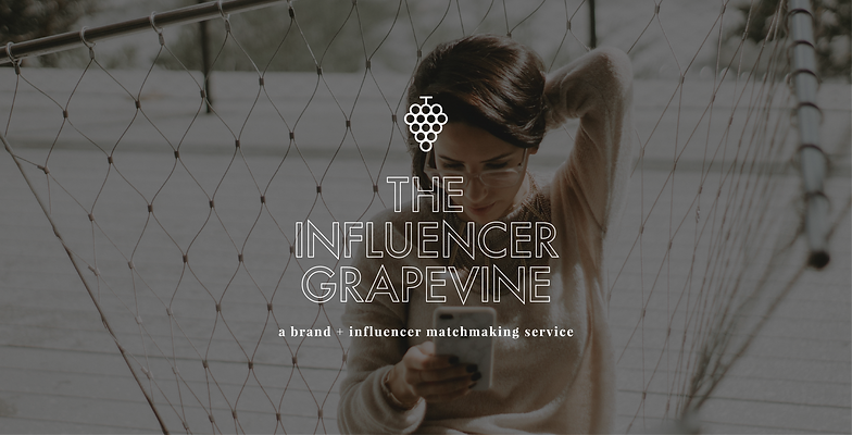 Logo design and brand identity for influencer marketing and relations agency